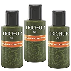 Trichup Pack Of 3 60ml Herbal Hair Oil Henna Natural Oil For Healthy and Strong Hair Scalp Care Kit