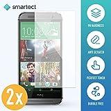 2x Protection d'Écran en Verre Trempé pour HTC One M8 / M8s de smartect   Film Protecteur Ultra-Fin de 0,3mm   Vitre Robuste avec 9H de Dureté et Revêtement Anti-Traces de Doigts