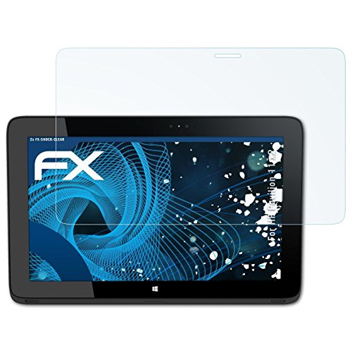 atFolix Schutzfolie kompatibel mit HP Pavilion 11 x2 Panzerfolie, ultraklare & stoßdämpfende FX Folie (2X)