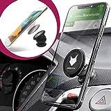 mobilefox® KFZ 360° Auto Magnet Handy Kugelkopf Halter Smartphone Halterung Armaturenbrett Universal Schwarz
