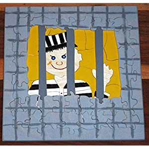 Holzpuzzle Gefangener, zweilagig, 55 Teile