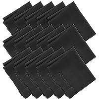 Fosmon Paños de Limpieza de Microfibra, Paquete DE 15 paños de Limpieza de Microfibra [6 x 7 Pulgadas / 15,2 x 17,8 cm] (Negro)