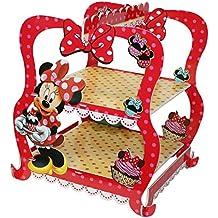 Partido Ênico - Bandeja para tartas y pasteles para fiestas, razón: Minnie Mouse