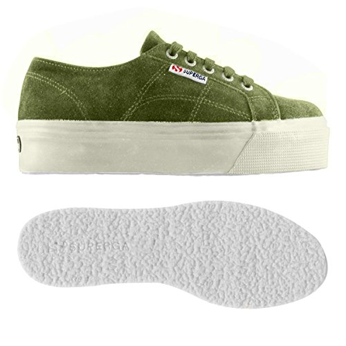 Superga Damen 2790-suew Sneaker Tè Verde