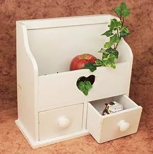 Commode Mini commode avec 2 tiroirs 12236 Etagère 28cm Coffret à bijoux Shabby Etagère