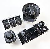 Spiegel-Scheinwerfer-Schalter, Set mit 61K0959565K NEU Golf 56Passat B6CC Tiguan Amarok ab 2011–2015