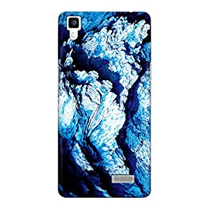 CrazyInk Premium 3D Back Cover for Oppo R7 Lite - Blue Rock Macro