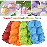 Backform für Schoko-Eier, 6er-Form, für Ostereier aus Schokolade, Silikon, zufällige Farbauswahl