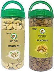 Spicy Carte Dry Fruits Combo Pack - Cashew Nut & Almond,