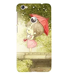 EPICCASE cute girl in umberalla Mobile Back Case Cover For LeEco Le 1s Eco (Designer Case)