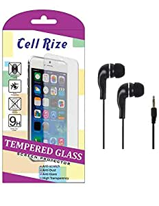 CellRize Tempered Glass For LG Max With Black Headphone