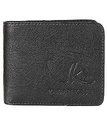 Vagan-Kate Upper Plain Black Leather Wallet For Men