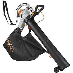 VonHaus 3 in 1 Leaf Blower - 3000W Garden Vacuum & Mulcher - Large 45 Litre Collection Bag – 15:1 Mulching Ratio – Variable Speed Settings 8000-14000 RPM – Anti-Vibration Damper