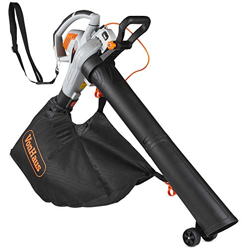 VonHaus 3 in 1 Leaf Blower - 3000W Garden Vacuum & Mulcher - Large 45 Litre Collection Bag - 15:1 Mulching Ratio - Variable Speed Settings 8000-14000 RPM - Anti-Vibration Damper