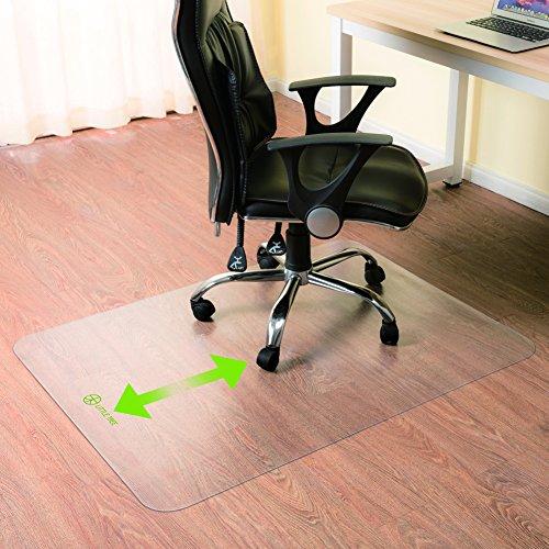 Little tree Tapis protège-sol Office PC transparent en vinyle - Deux tailles au choix - 90x120cm/180x120cm (120x90cm)