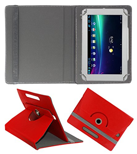 ACM ROTATING 360° LEATHER FLIP CASE FOR AMBRANE A-707 TABLET STAND COVER HOLDER RED  available at amazon for Rs.144