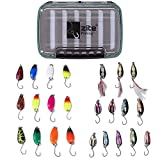 Zite Fishing Großes Forellen-Spoon-Sortiment mit 24 top Spoons und praktischer Köderbox - Kombination Produkten