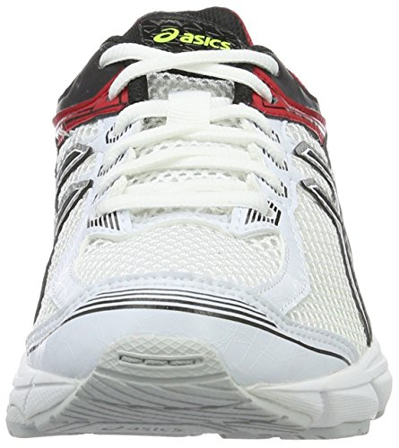 Asics Gt-1000 4 Gs, Scarpe da Corsa Unisex – Bambini Multicolore (White/Black/Racing Red)