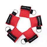 LinkHealth CPR Mask Keychain Ring Emergency Kit Rescue Face Shields with One-way Valve Breathing Barrier for First Aid or AED Training
