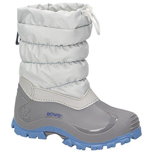 BOWS® -Leo- Mädchen Jungen Winter Stiefel Schnee Schuhe gefüttert Einhorn Unisex Kinder Winterboots Warmfutter Schurwolle auch als Limited Unicorn Edition, Schuhgröße:29, Farbe:grau