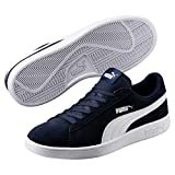 Puma Puma Smash v2, Sneakers Basses mixte adulte - Bleu (Peacoat-Puma White), 44.5 EU