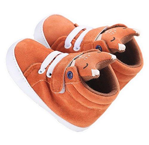 234a2900dbde9 Evedaily Renard Mignon Chaussures Premiers Pas Antidérapante Chaussures  Souples pour Bébé Fille Garçon 0-18