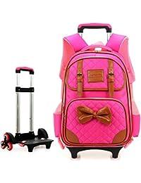 c8bc15b0a6 BYGenMai Zaini Scuola Trolley Zaino per Trolley da Scuola per Studenti con  Sei Ruote in Viaggio Rolling Luggage for…