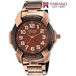 Fabiano New York Rose Gold Analog Mens & Boys Wrist Watch
