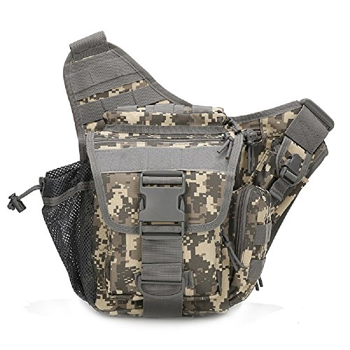 2016Hip Pack militare Tactica vita Packs impermeabile Marsupio Cintura Marsupio Borsa da Sella Climb Borsa Uomo Borsa a tracolla, sand camo Digital Desert