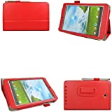 [Bamboo]ASUS MeMO Pad HD 7 ME173X Book style Leather Case Cover Stand For ASUS MeMO Pad HD 7 ME173X + Pen,Red