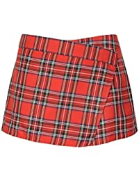 Femmes Red Tartan jupes dames