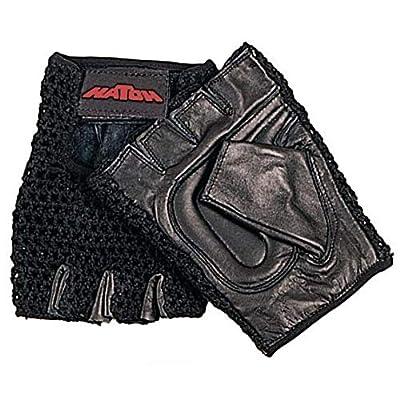 Performance Health All-Purpose One Pair Padded Mesh Wheelchair Gloves - Medium, Black