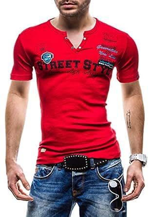 BOLF - T-Shirt à manches courtes - COMEOR 2104 - Homme - XXL Rouge