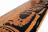 Unterseite von Longboard Deck