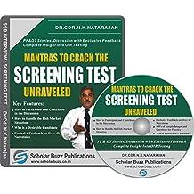 Scholar Buzz Mantras to Crack the Screening Test Video Course - Dr. Cdr. N. K Natarajan (DVD)