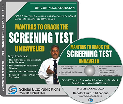 Scholar Buzz Mantras to Crack the Screening Test Video Course - Dr. Cdr. N. K Natarajan (DVD)