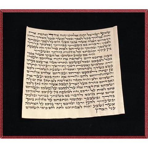 Por 6,99 cm Klaf/Scroll/de pergamino para metal mezuzá fabricado en Israel