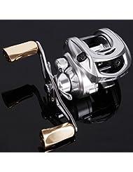 """Sougayilang magnétique à l """"écoute de frein Low Profile Baitcasting Moulinet de pêche gauche/droite à la main"""