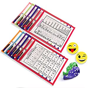 a9a6e2d3e7f2b3 10 Dry Erase Pocket | Worksheet Covers, Recycle, School, Nursery, Play Group
