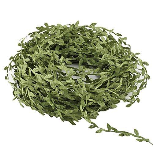 hogado 132Füße Seide Ivy Leaf Fake Vines Girlanden Kunstpflanze zum Aufhängen grün Blätter Band Rattan Kranz Ornaments Hochzeit Wand Crafts Party Decor