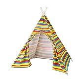 Kinder-Indoor-Baumwoll-Casual-Spiel Zelthaus Geeignet Für Kinder über 3 Jahre Alt, Jungen Und Mädchen, Lässig Und Einfach(rainbow)