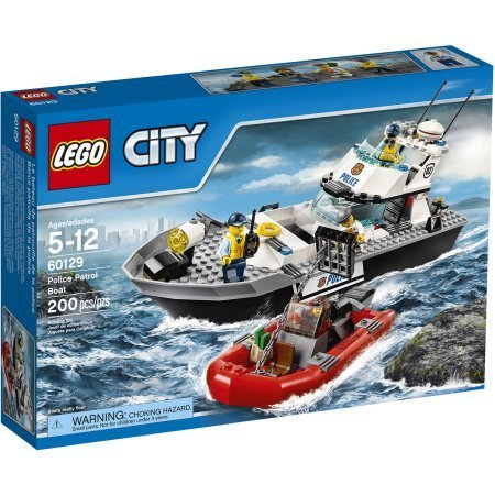 LEGO City Police Police Patrol Boat, 60129 Comes With 200 Pieces by LEGO