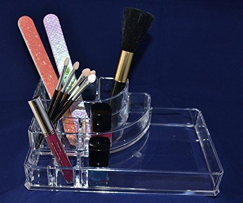 Kosmetikbox, rechteckig, transparent, Kosmetik Organizer Ablage Kosmetikablage durchsichtig klein