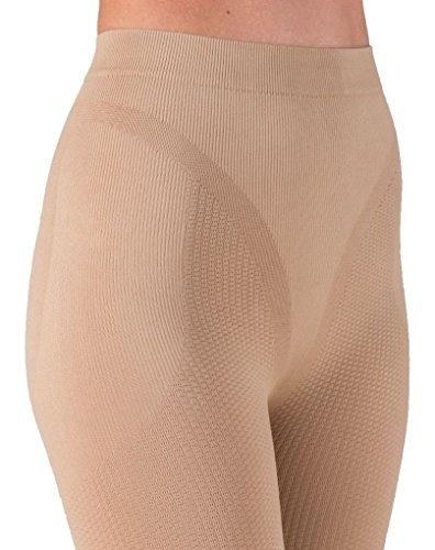 Pantalón corto anti-celulítico, vaina con funda interna sin costuras - Piel tamaño XL