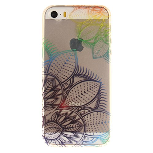 Etsue iPhone 6S Plus Cover Trasparente,Custodia iPhone 6 Plus Tpu UltraSottile, Carina Lovely Colorito Amore Cuore Modello,Slim Soft Gel Protective Case Silicone Clear Cover Morbida Flessible Gomma Ch Dream Fiori