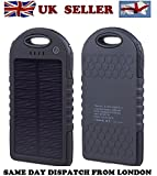 5000mAh Solar Battery Panel Dual USB Port Rain-resistant, Dirtproof and Shockproof Portable Charger