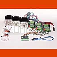 3D CNC USB Controller del motore passo-passo Fresadora con Software, 3 x NEMA 23 motores (3,0 A) e 3 finecorsa meccanico