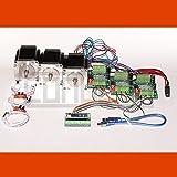 3D CNC USB Controlador de motor paso a paso Fresadora con Software, 3 x NEMA 23 motores y 3 Finales de Carreras