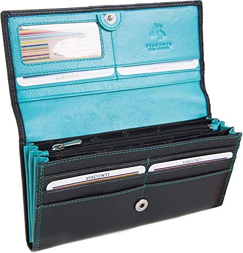 Women'Visconti Damen Geldbörse, weiches Leder, CD21 Stye & Aqua - Womens Leder Slip