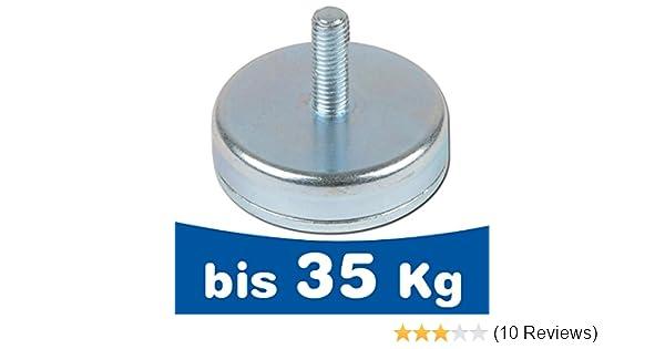 50 x Neodym Magnetösen 10 mm 2,2 KG super stark Magnethaken mit Öse M3 Gewinde